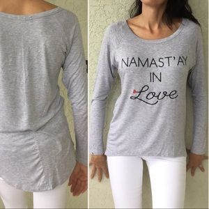 Tops - ♥️ Long Sleeve Soft Graphic Grey Tunic